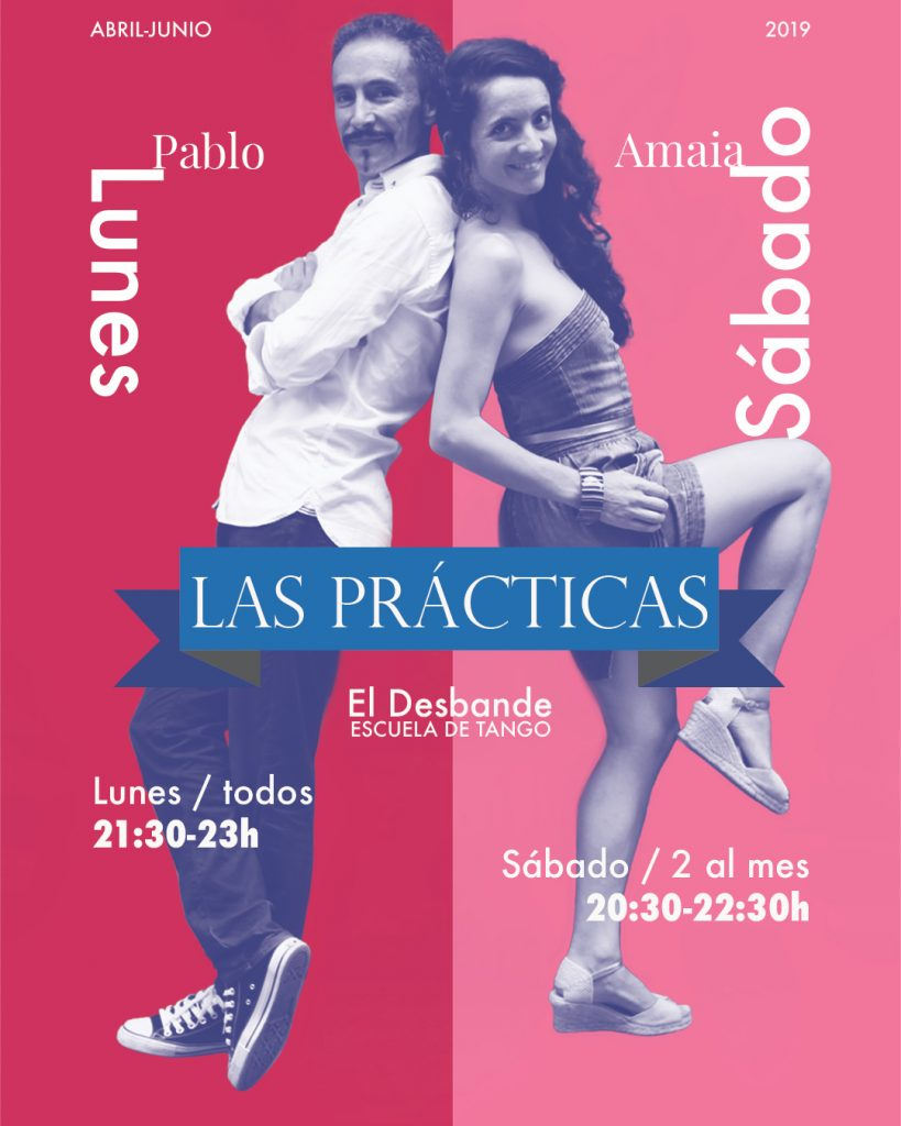 práctica de tango desbande